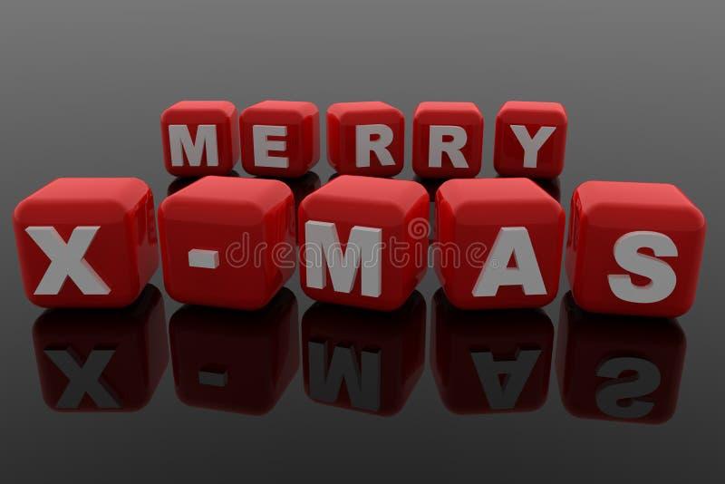 Merry X-Mas vector illustration