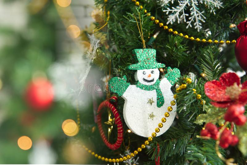 Merry x mas celebration with toy decoration design for christmas background green style.  royalty free stock images