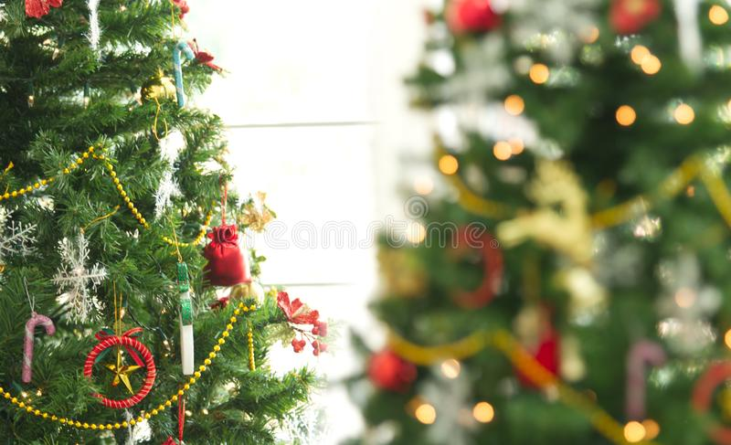 Merry x mas celebration with toy decoration design for christmas background green style.  stock image