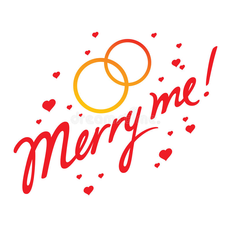 Merry Me stock illustration