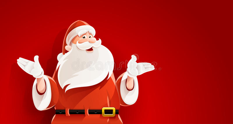 Merry Santa Claus telling christmas story vector royalty free illustration