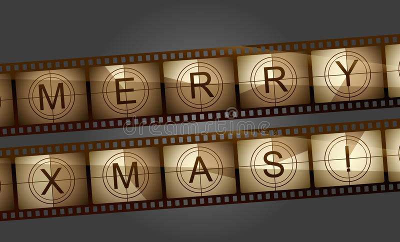 Download Merry Xmas Film Counter Stock Photo - Image: 27831080