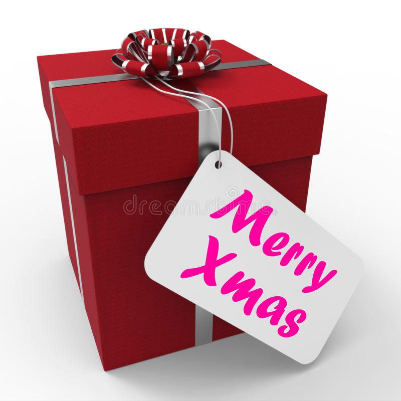 download merry xmas gift means happy christmas greetings stock photo image of christmas festive - Xmas Present
