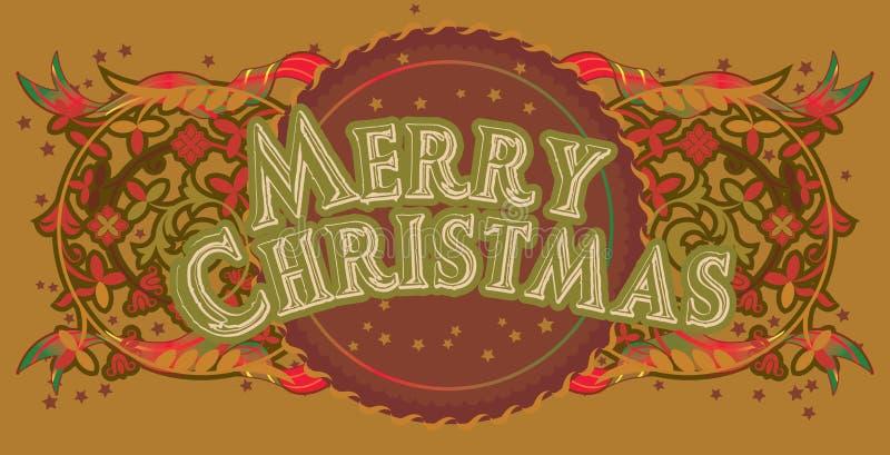 Merrycristmas_4 illustrazione di stock