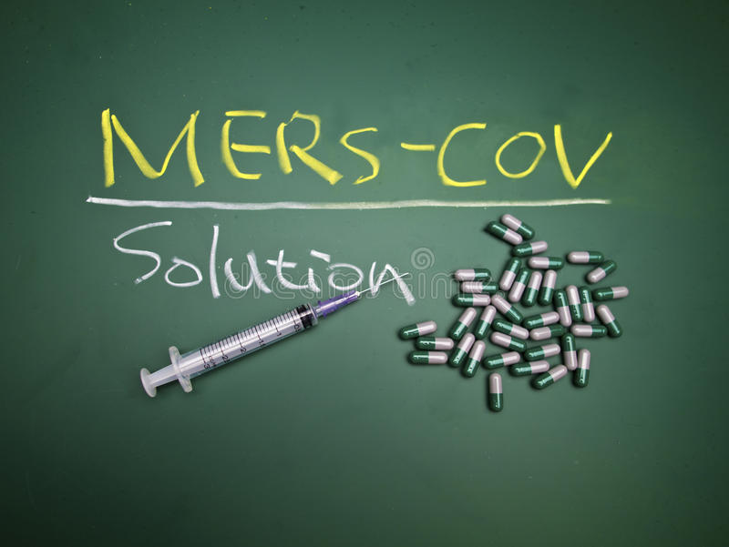 Mers syndrome. Mers-Cov,Middle East Respiratory Syndrome Coronavirus ,Concept Background stock images