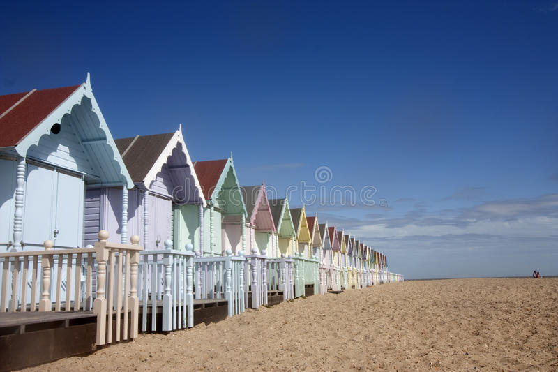 mersea хат пляжа стоковая фотография