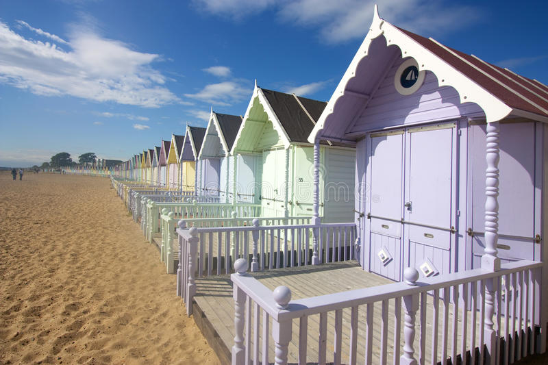 mersea хат пляжа стоковая фотография rf
