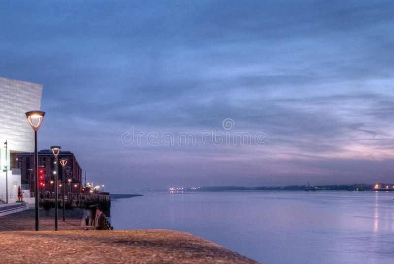The Mersey River, Liverpool royalty free stock photos