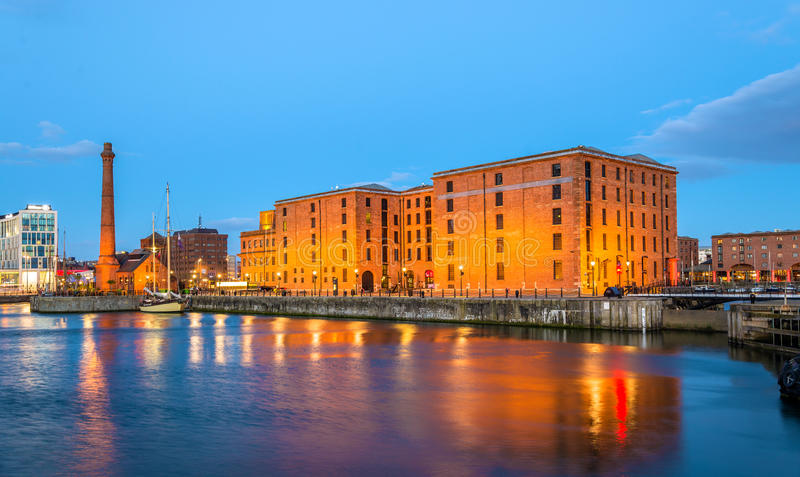 The Merseyside Maritime Museum and the Pumphouse in Liverpool. England stock images