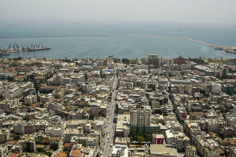 Mersin Cit i port, morze śródziemnomorskie, Turcja fotografia stock
