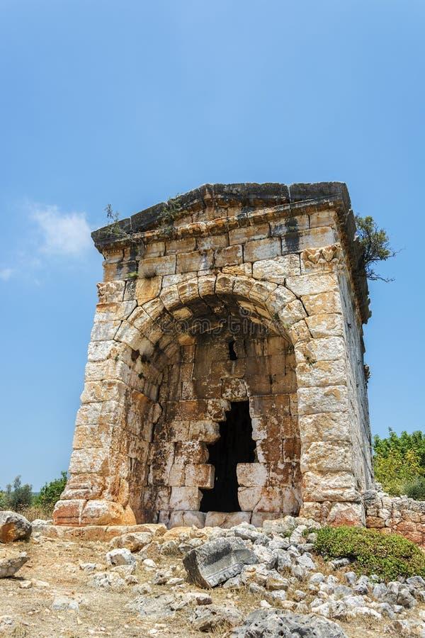Mersin/divane индюка/kanli Старый период Roma, мавзолей стоковое изображение rf