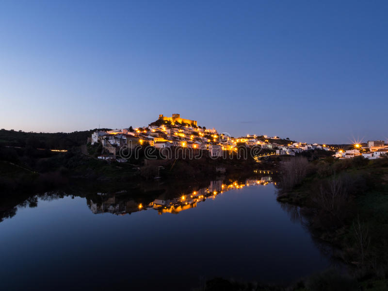 Mertola在葡萄牙 免版税库存图片