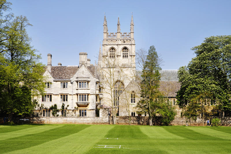 Download Merton College In The City Of Oxford Stock Image - Image: 17716799