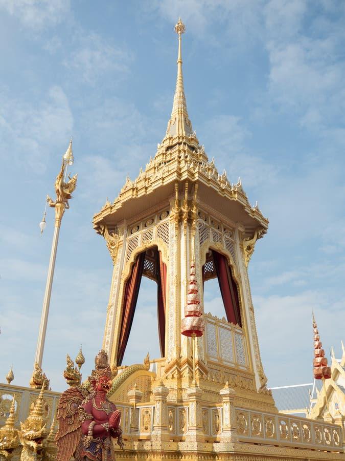 Meru kunglig begravnings- bål, Thailand royaltyfri fotografi