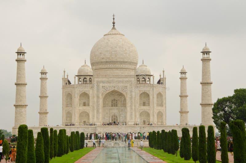Merveille Taj Mahal de haute plaine photo stock