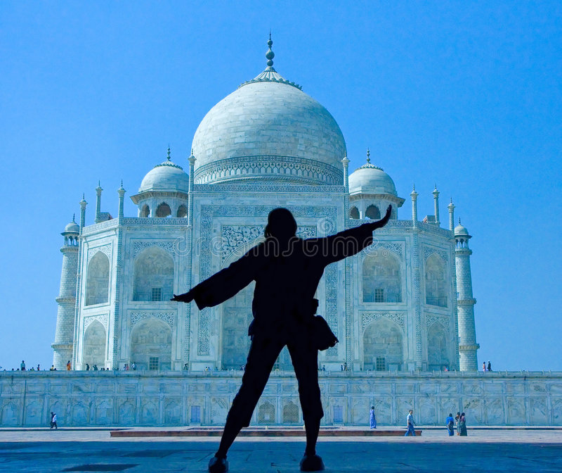 Merveille Taj Mahal du monde photographie stock libre de droits
