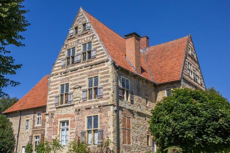 Merveldter hof historical mansion in the village of Horstmar. Germany stock photography