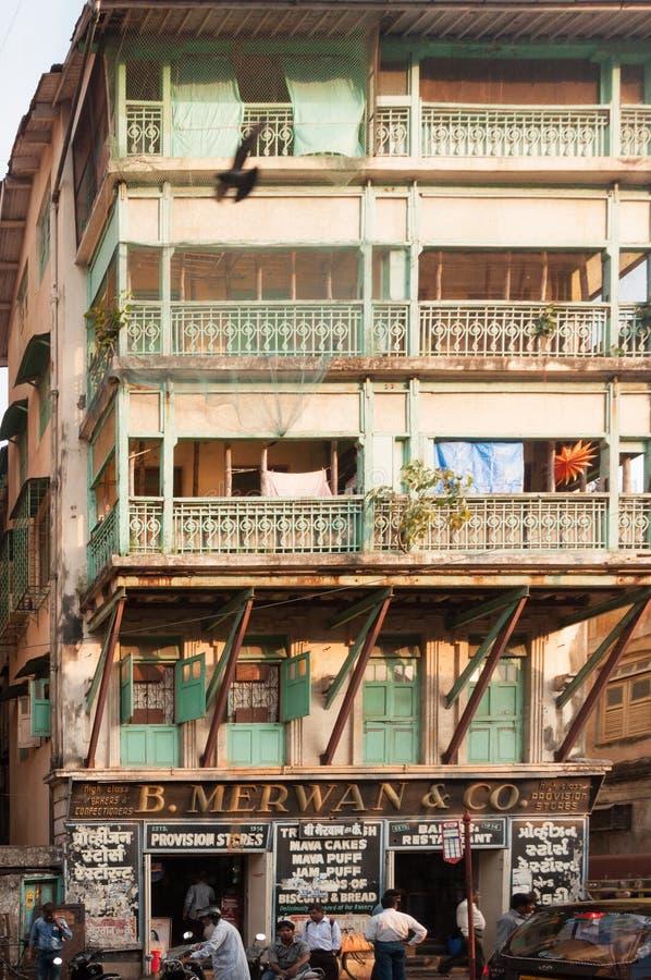 Merwan Building Grant Road, Mumbai royaltyfria bilder