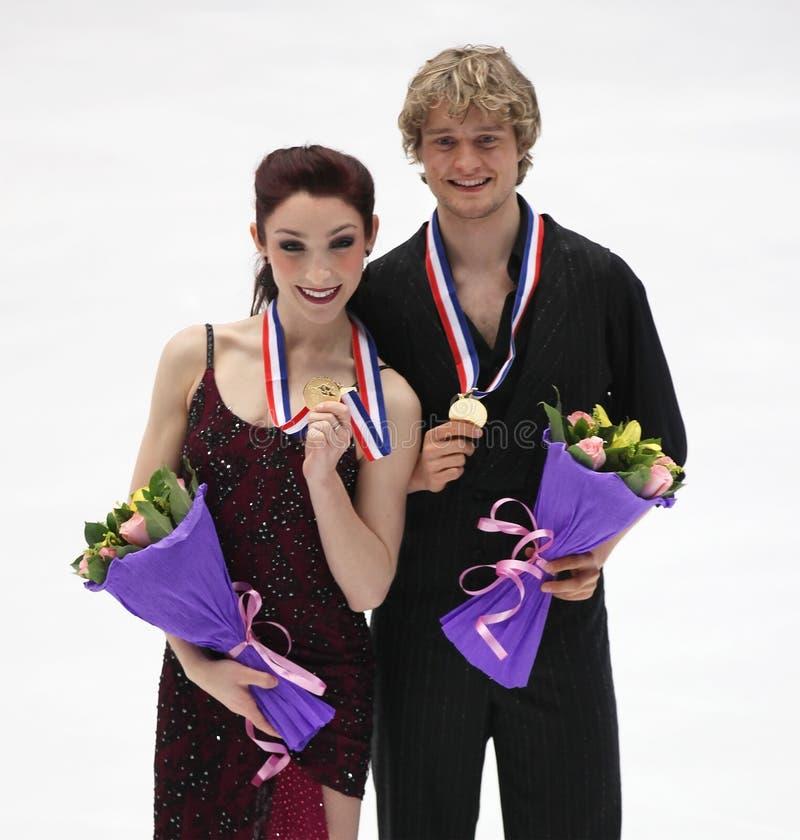 Meryl Davis and Charlie White of USA stock photography