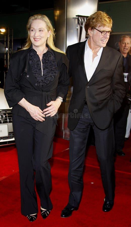 Meryl Streep et Robert Redford image stock