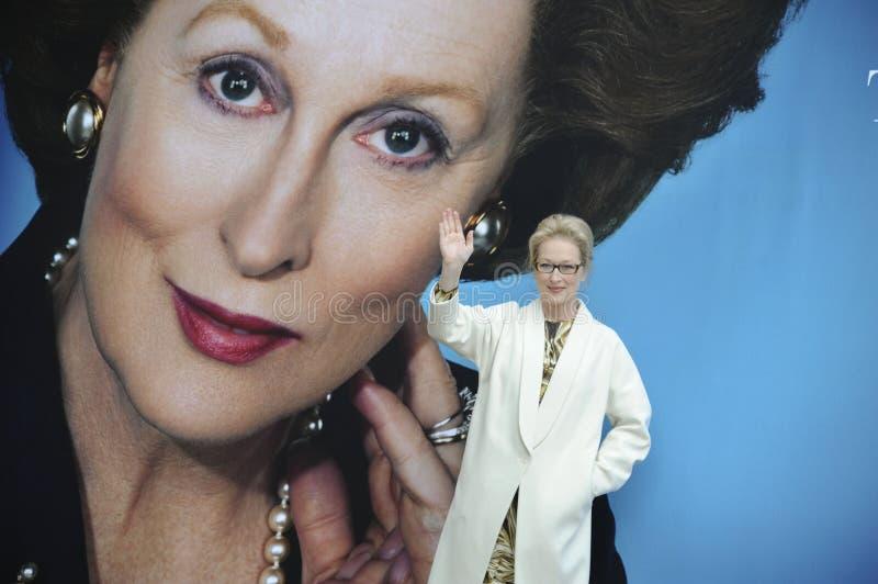 Meryl Streep, Margaret Thatcher imagens de stock
