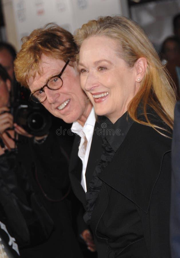 Meryl Streep, Robert Redford photo stock