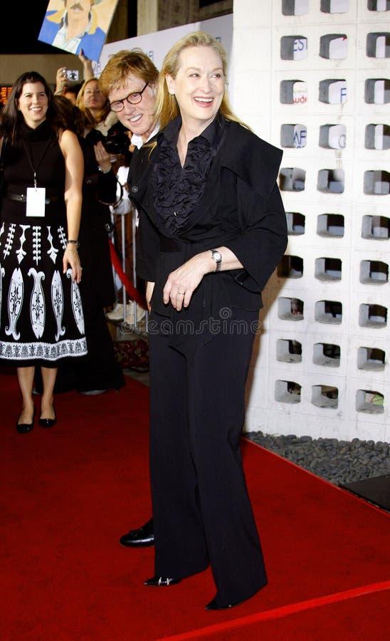 Meryl Streep y Robert Redford imagenes de archivo