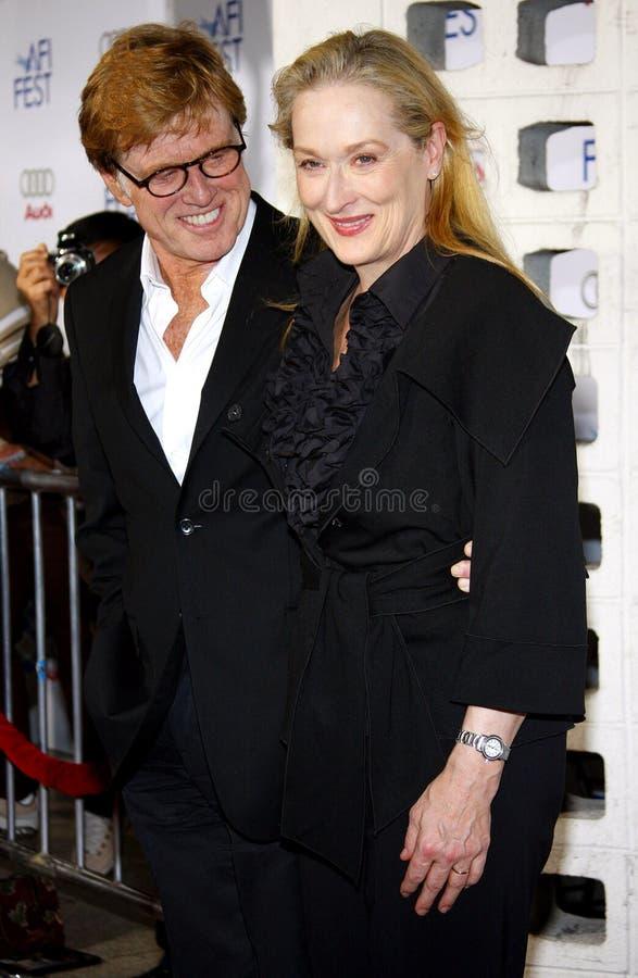 Meryl Streep y Robert Redford fotografía de archivo libre de regalías
