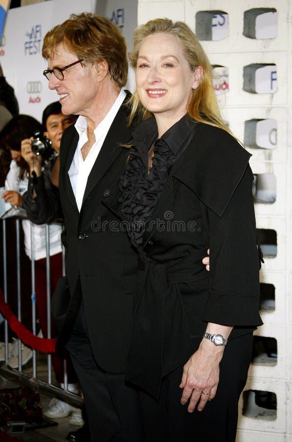 Meryl Streep y Robert Redford imágenes de archivo libres de regalías