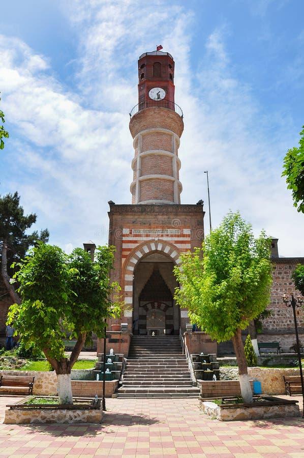 Merzifonklokketoren in Amasya stock afbeelding