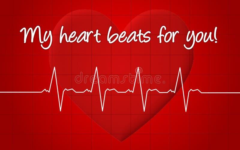 Mes battements de coeur pour vous illustration de vecteur