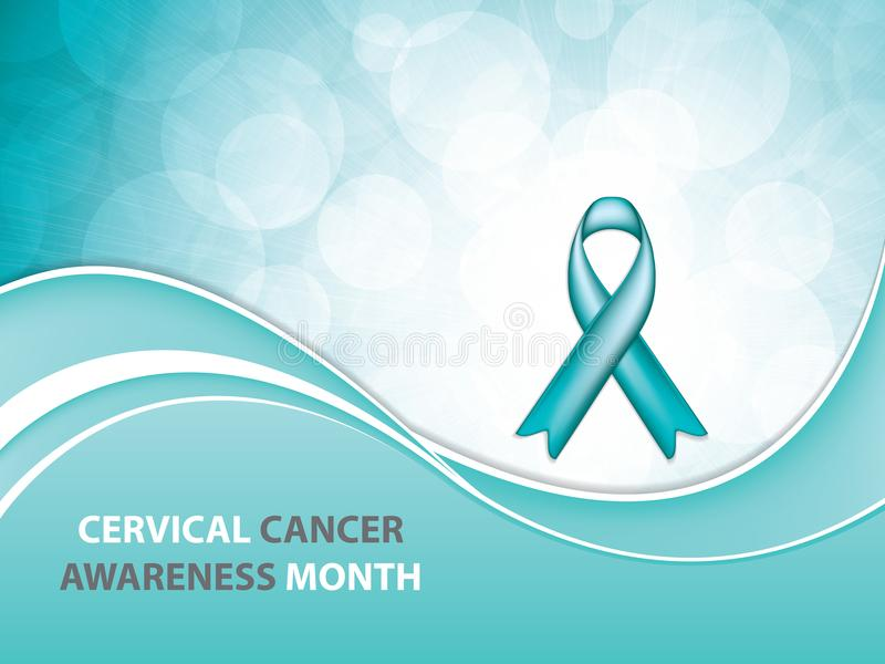 Mes de la conciencia del cáncer de cuello del útero stock de ilustración