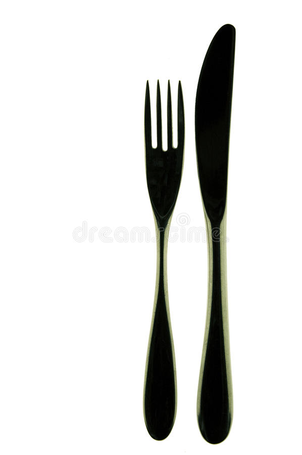 Mes en vork stock afbeeldingen