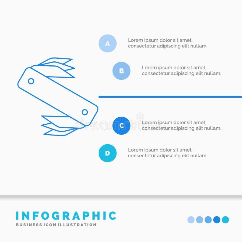 mes, leger, het kamperen, Zwitser, het Malplaatje van zakinfographics voor Website en Presentatie Infographic de stijlvector van  stock illustratie