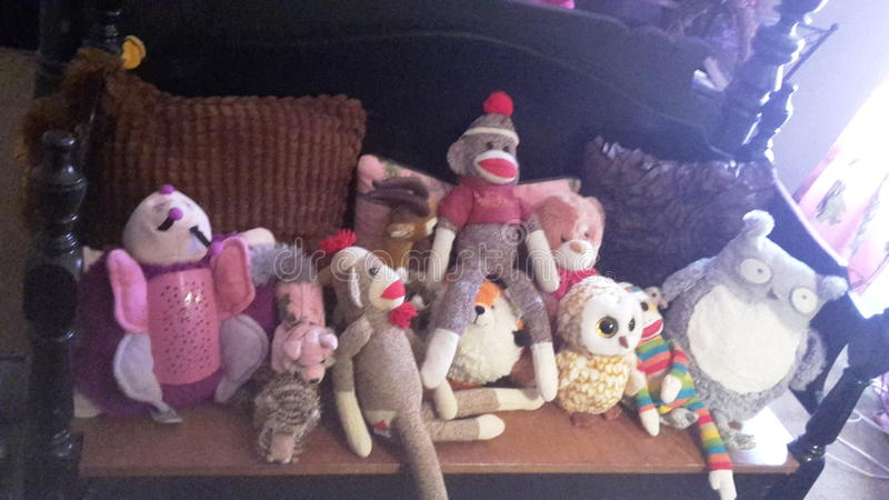 Mes peluches images stock
