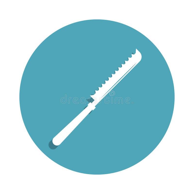 mes voor scherp broodpictogram in kentekenstijl Één van het pictogram van de keukengereedschapinzameling kan voor UI, UX worden g stock illustratie