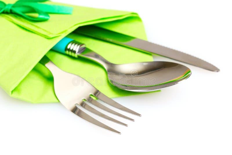 Mes, vork en lepel stock afbeeldingen