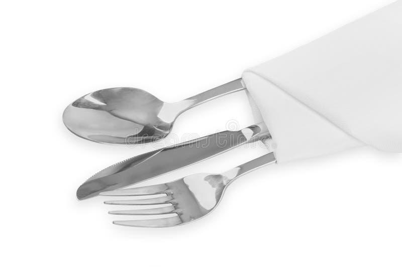 Mes, vork en lepel royalty-vrije stock foto