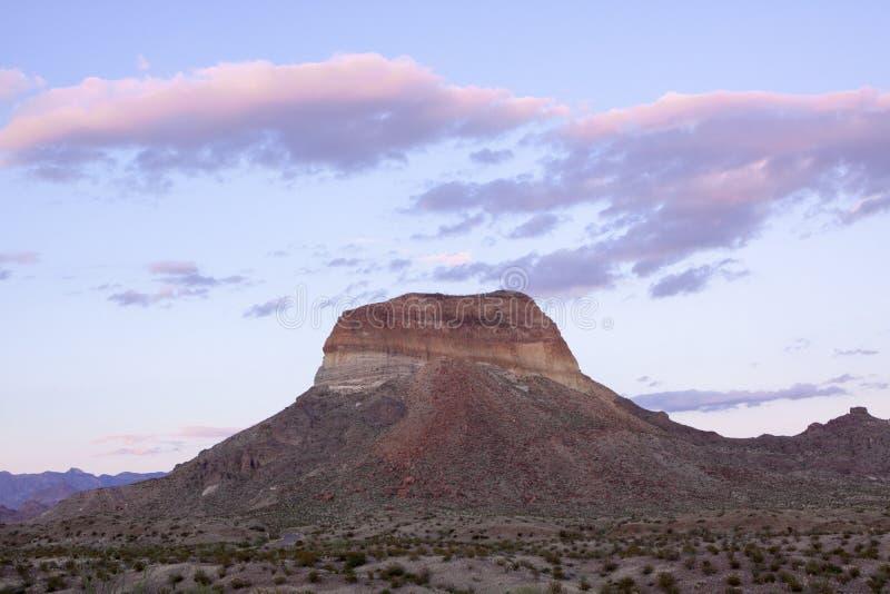 Mesa在大弯曲国家公园,得克萨斯 库存图片