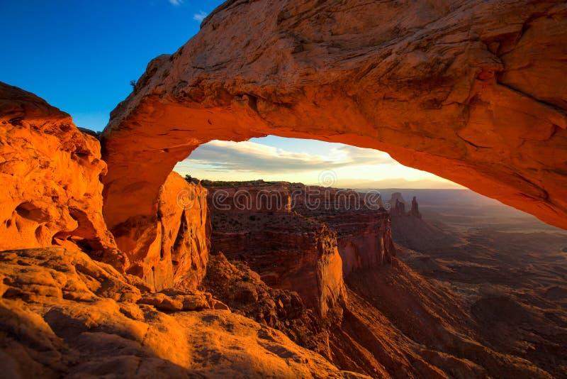 Mesa łuk w Canyonlands parku narodowym blisko Moab, Utah, usa obrazy royalty free