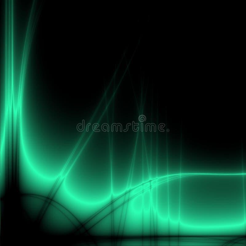 Mesa abstracta verde stock de ilustración