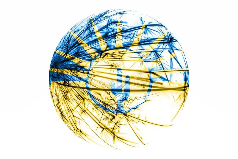 MESA abstrait, drapeau de scintillement de l'Arizona Concept américain de boule de Noël d'isolement sur le fond blanc illustration libre de droits