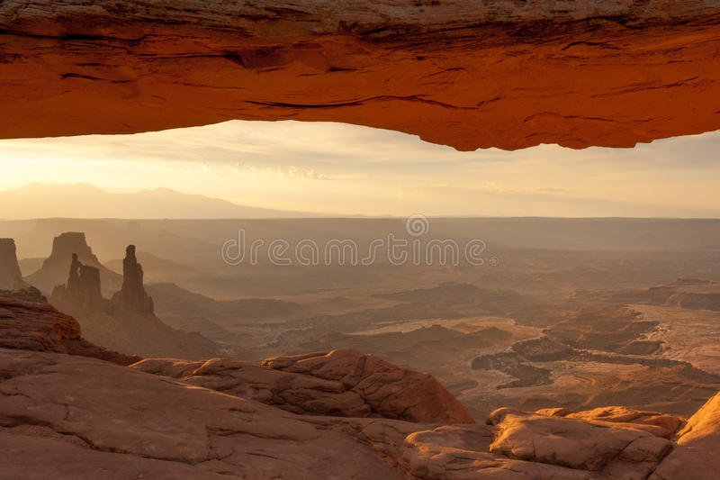 Mesa Arch in Canyonlands stock photos