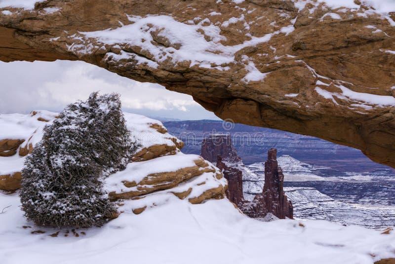 Mesa Arch en invierno fotos de archivo
