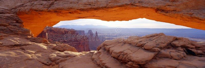 Mesa Arch Panorama Royalty Free Stock Photography