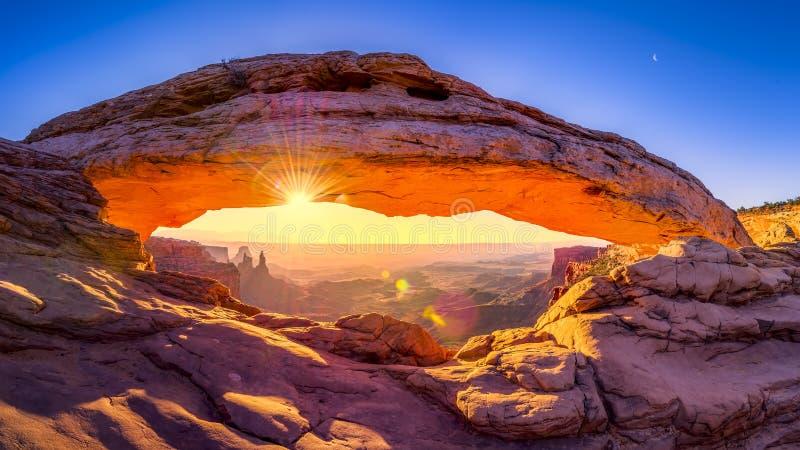 Mesa Arch Panorama foto de archivo