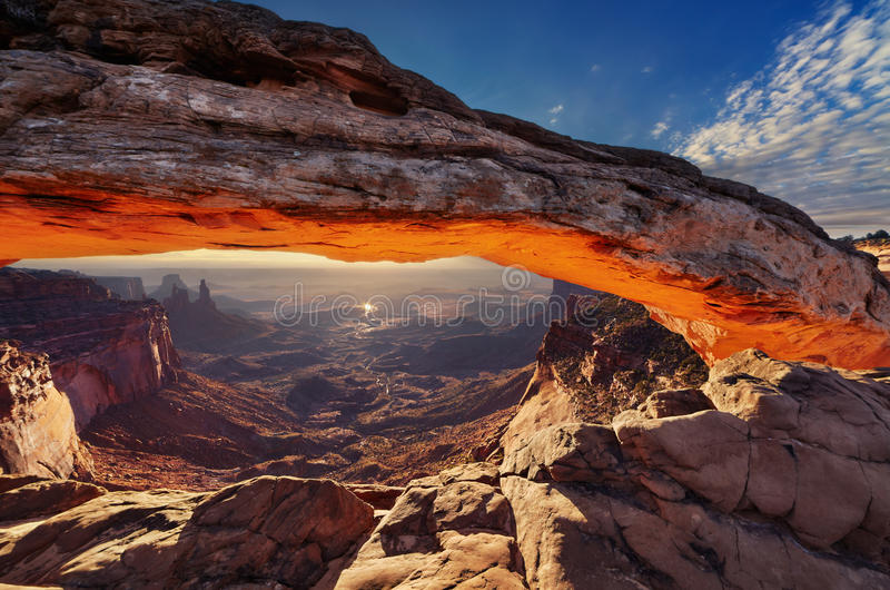 Mesa Arch at sunrise royalty free stock photo
