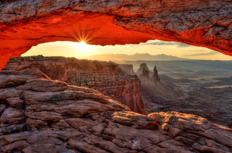 Mesa Arch at Sunrise, Canyonlands National Park, Utah. USA royalty free stock photo
