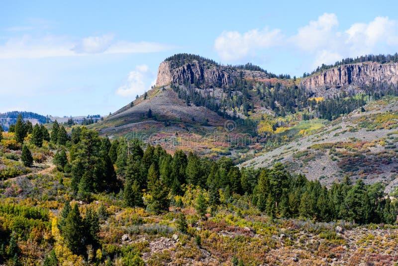 MESA bleu - le Colorado Autumn Scenery photos stock