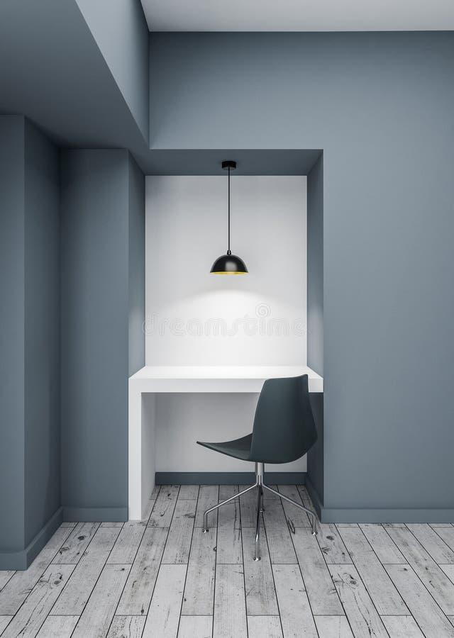 Mesa branca na sala vazia foto de stock royalty free